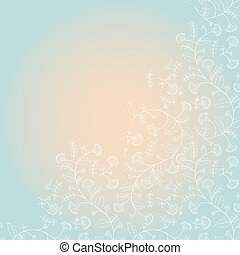 background with a silhouette of cornflowers