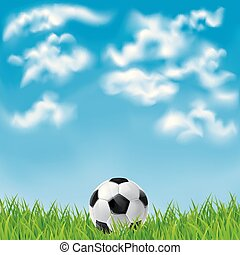Background with a soccer ball.