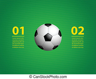 background with a special soccer ball