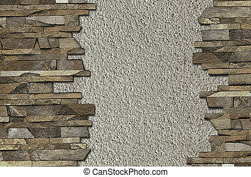 background with a stone border