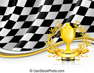 Background with a Trophy, vector