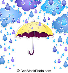background with a yellow umbrella