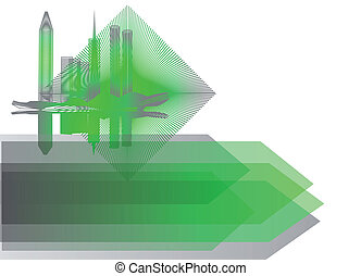background with abstract city