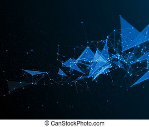 Background with abstract color particles.