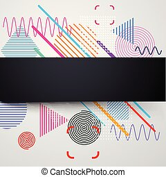Background with abstract colorful pattern.