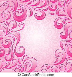 Background with abstract floral pattern.