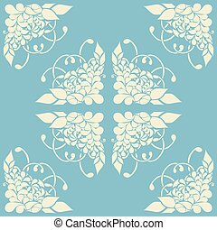 Background with abstract floral pattern