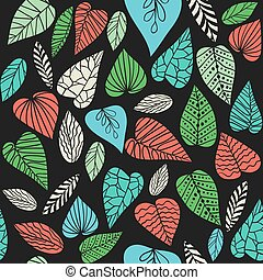 Background with abstract leaves