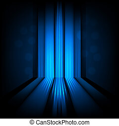 background with abstract lines of blue light