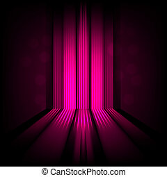 background with abstract lines of pink light