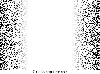 Background with abstract memphis line pattern and thickness gradient