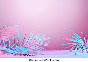 Background with abstract palm leaves
