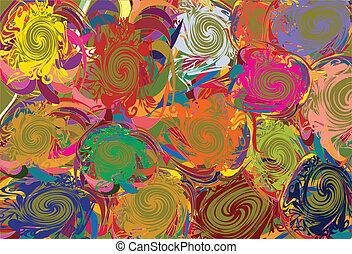 Background with abstract varicolour