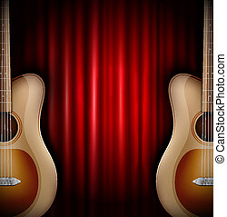 Background with acoustic guitar