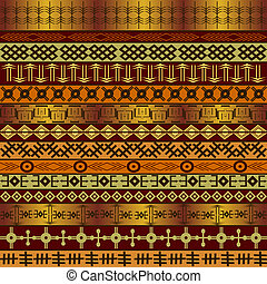 Background with African ethnic motifs