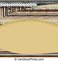 Background with African textil textures