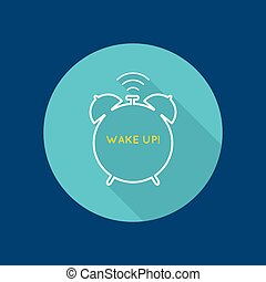 Background with alarm clock. The concept of early awakening...