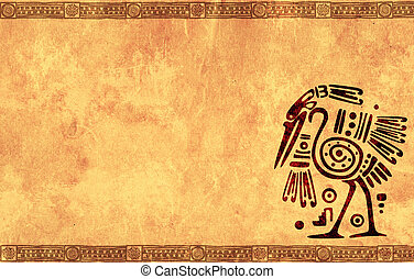 Background with American Indian national patterns