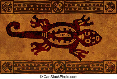 American Indian national patterns - Background with American...