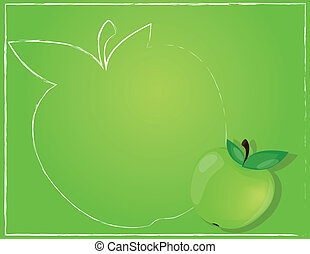 Background with apple