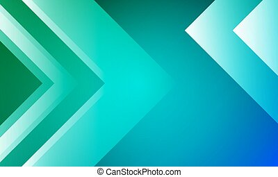 background with arrows in green blue design