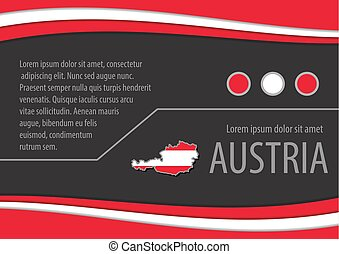 Background with Austrian colors and free space for your text.