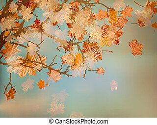 Background with autumn maple leaves. EPS 10