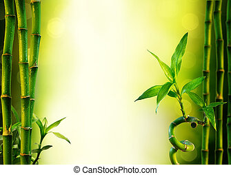 background with bamboo for spa