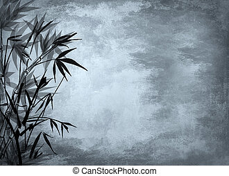 Background with bamboo.