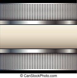 Background with beige banner