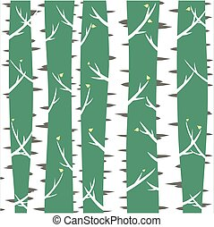 Background with birches.