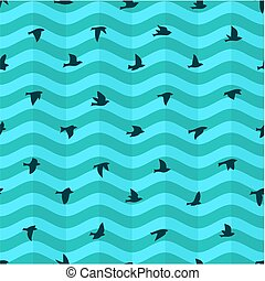 Background with birds.