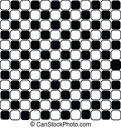 Background with black and white squares