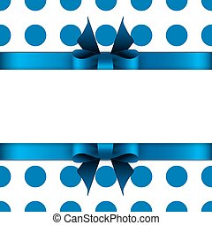 Background with blue bow