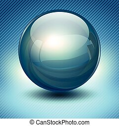 Background with blue glass ball