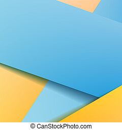 Background with blue paper