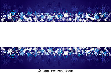Background with blue snowflakes, vector illustration