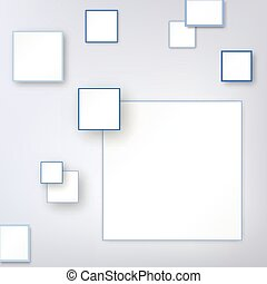 Background with blue square.