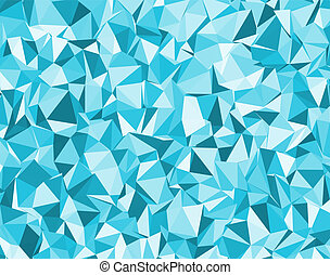 background with blue triangles