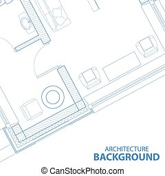 Background with blueprint