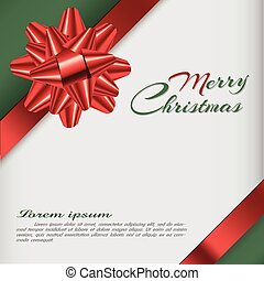 Background with bow, christmas card