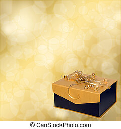 Background with box for presents