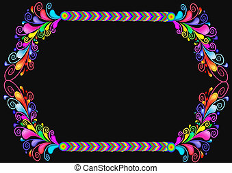 Background with braided line and pattern from bright