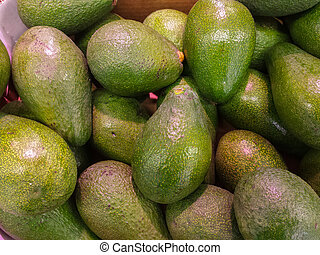 background with bright green fruit
