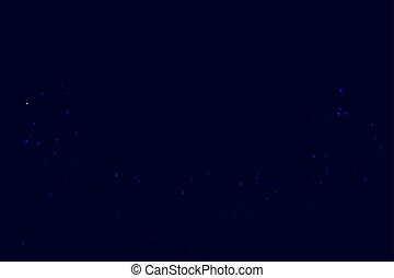 Background with Bright stars in dark blue night sky.