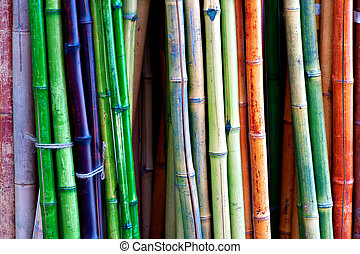 colorful bamboo