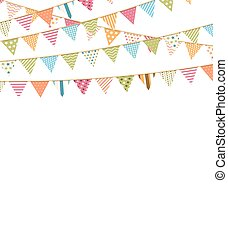 Background with Bunting