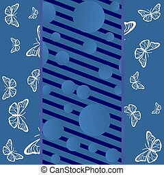 Background with butterflies and lines
