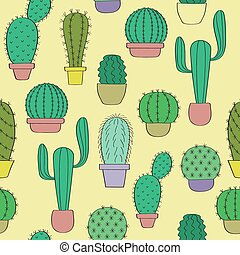 Background with cacti