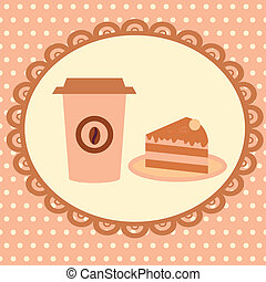 background with cakeand coffee